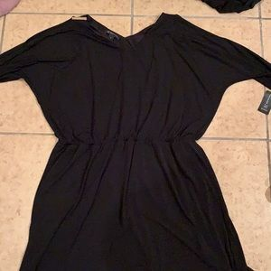 INC black dress with shoulder cut outs